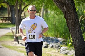 A recent race. I'm back running, and ready to run 52 races in 2015 to fight GBS