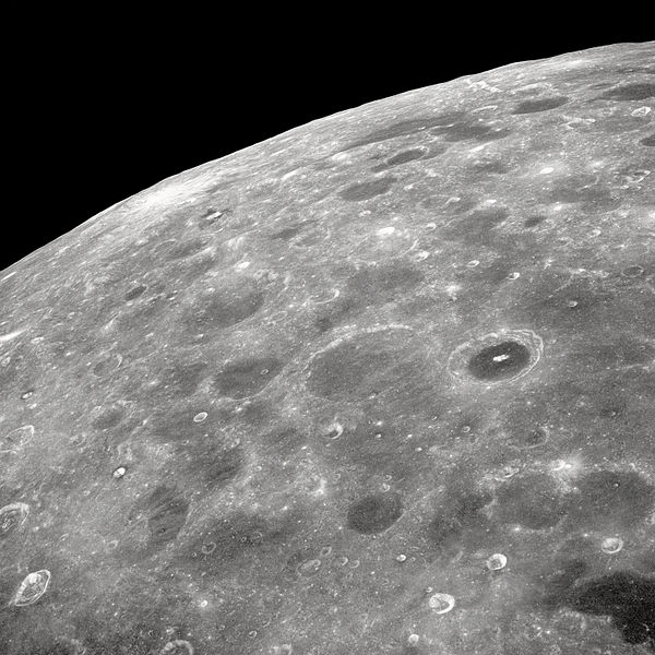 The far side of the moon as seen from Apollo 8. The Apollo 8 crew was the first to ever see the dark side of the moon